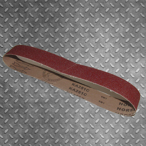 100mm X 915mm LINISHING SANDING BELTS 60 GRIT 10pce