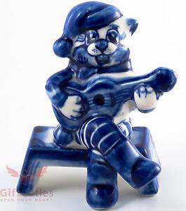Gzhel Porcelain figurine Cat Matroskin Кот Матроскин Three from Prostokvashino