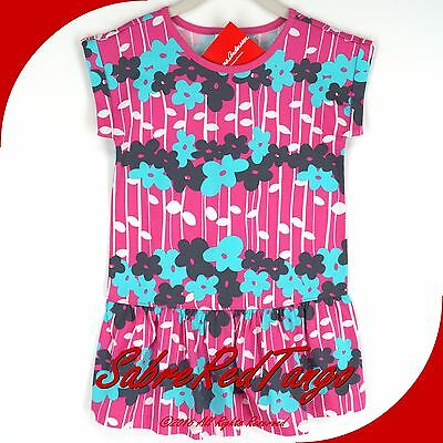 NWT HANNA ANDERSSON FLOWER FOREST DRESS VIVID PINK FLORAL 100 4T 4