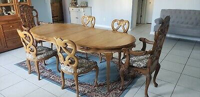 French country dining set Antique Authentic table and chairs | eBay