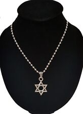 Men's Silver Stainless Steel Star Pendant With Necklace Sp52 USA Seller