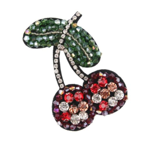 Cherry Patches Sewing Beaded Brooch Sequin Clothes Applique Embroidery Badges