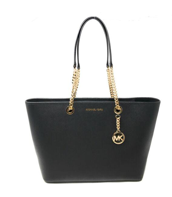 Michael Kors Shania Large East West Chain Tote Handbag Bag Leather $398