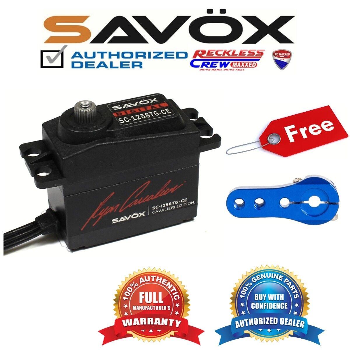 Savox SC-1258TG-CE Coreless Digital Servo Ryan + Gratis Aluminio Servo Horn Azul