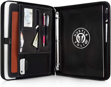 Portfolio Professional Pu Leather Binder Zippered Folio