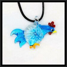 2016 New cock lampwork Murano art glass beaded pendant necklace BB7