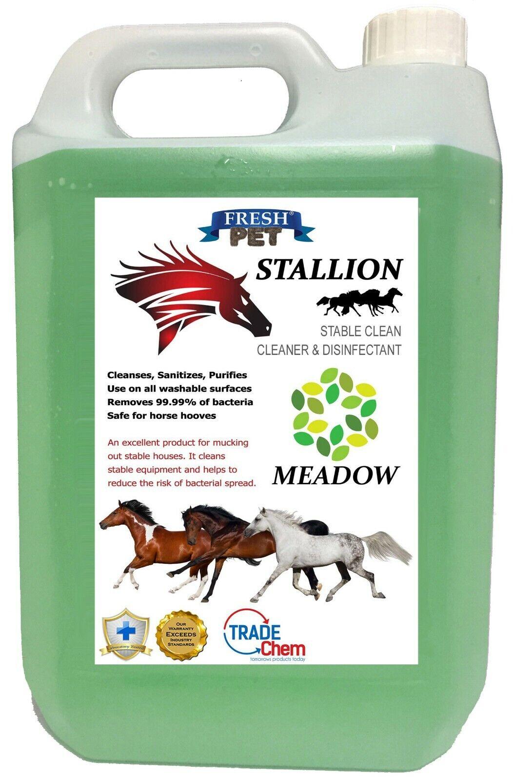 Stallion par Fresh Pet Étable  Nettoyant Désinfectant Nettoyage 5L - Prairie  official authorization