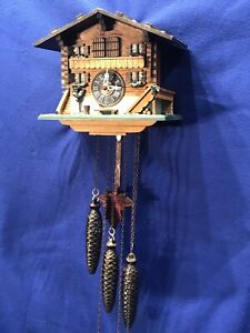 vintage Germany Black Forest Strike Cuckoo Clock,Swiss Musical,3 Weight Driven