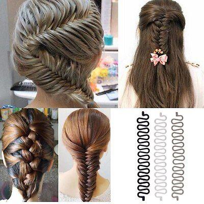 HOT! Fashion Women Hair Styling Clip Stick Bun Maker Braid Tool Hair Accessories