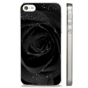 Rose-Black-Rain-Drop-CLEAR-PHONE-CASE-COVER-fits-iPHONE-5-6-7-8-X