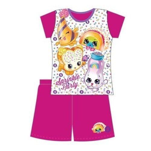 Girls Shopkins shorties pyjama set nightwear new