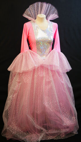 Panto-shows-Snow Queen-Ice Princess-PINK FAIRY GODMOTHER-All Sizes /& PLUS