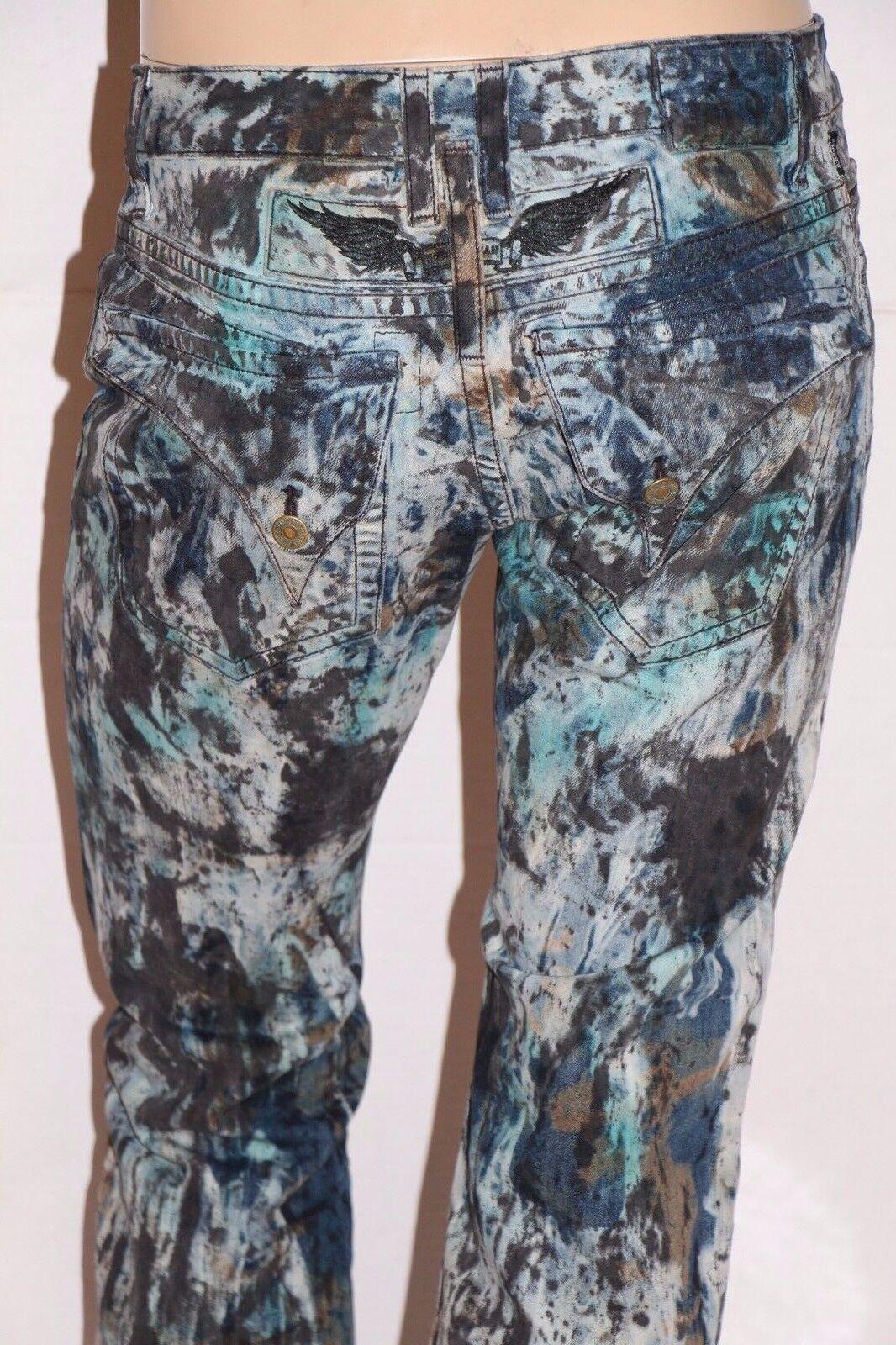 New Men's ROBIN'S JEAN Style  D5696P LONG FLAP Straight Leg Waxed Jeans