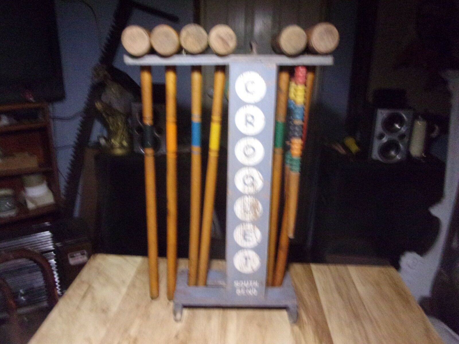 VINTAGE CROQUET FULL  SET BY SOUTH BEND  outlet sale