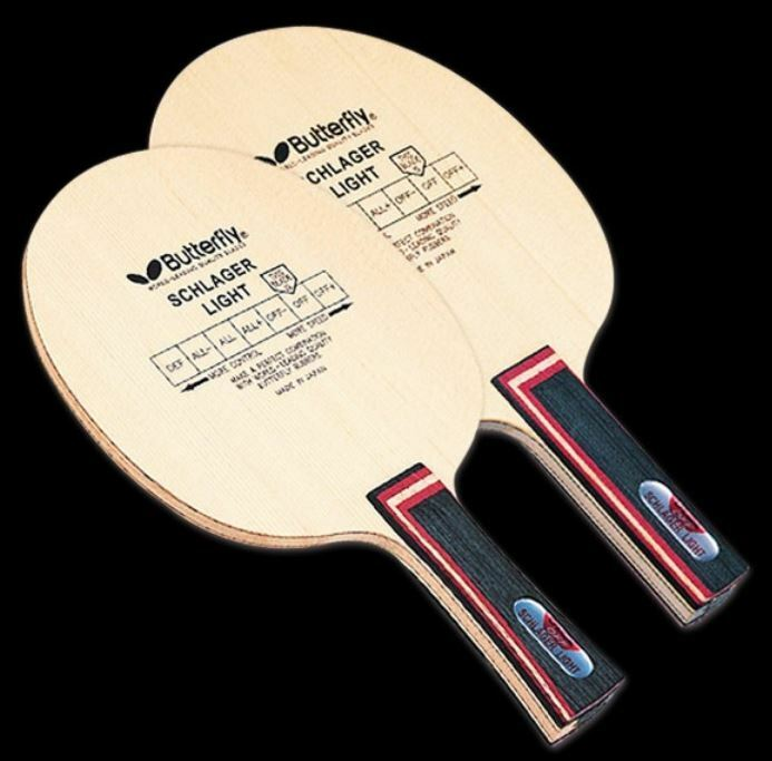 Butterfly  Schlager Light Carbon FL ShakeHand Blade,Paddle Table Tennis