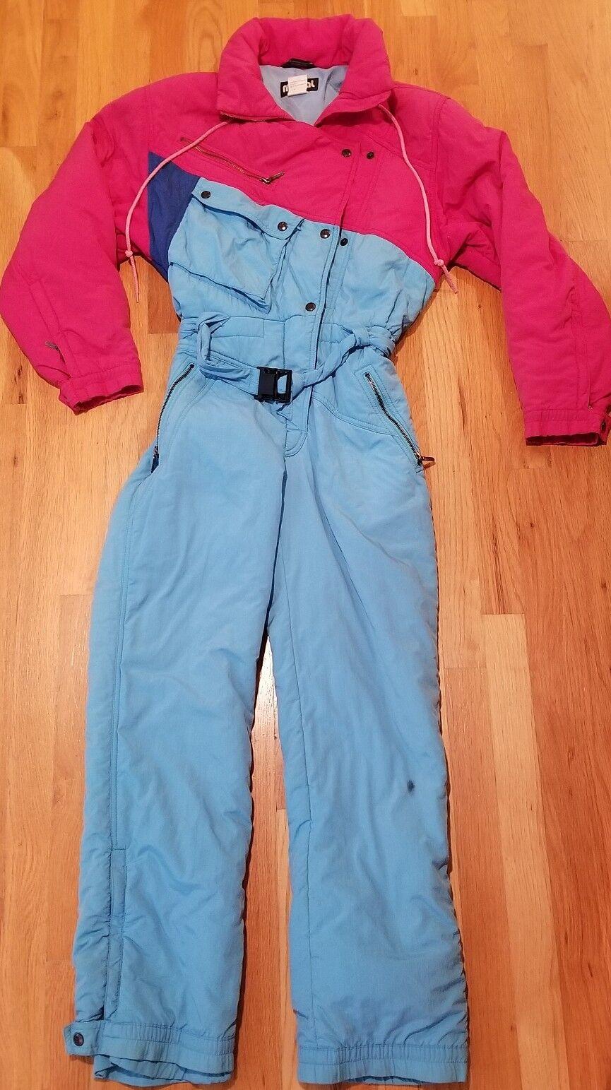 Vintage Mistral Snowsuit Größe 6 Blau Blau 6 ROT 1990s 1980s retro no problems c9b224