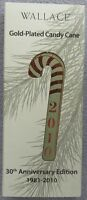 2010 Wallace 30th Annual Candy Cane Christmas Ornament Trees In Box