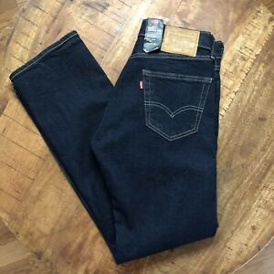 Levi-s-505-Jeans-Regular-Straight-Stretch-Blue-Pants-Denim-Mens-Size-28x32