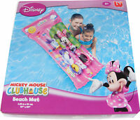 Disney Minnie Mouse Inflatable Mattress Lilo Beach Mat Air Bed For Swimming Pool