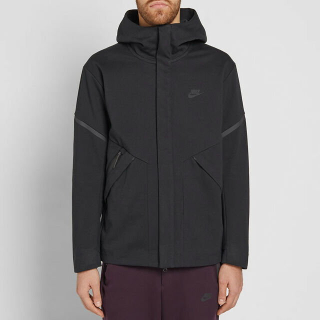 3416eeccf3a9 Nike Tech Fleece Repel Windrunner Jacket - LARGE - 867658-010 Triple  Blackout