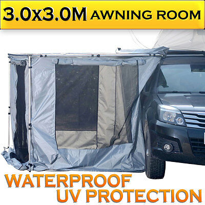 NEW Car Side Awning Room 3.0MX3.0M 4WD 4X4 ROOF TOP TENT CAMPER TRAILER CAMPING