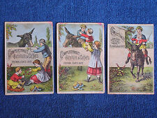 Children Ride Donkey/Cowperthwait Furniture & Carpets-Brooklyn NY/3 Trade Cards