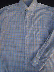 Alex Cannon Mens Long-Sleeve Plaid Button-Front Shirt