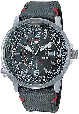 Citizen Promaster Nighthawk Euro Mens Pilots Nylon Watch BJ7010-16E BJ7017-09E