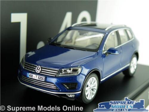 VOLKSWAGEN VW TOUAREG Coche Modelo Escala 1:43 Azul Herpa Especial Distribuidor problema K8