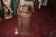 Antique Davis Welding & Mfg. Co. Oil Gas Can-5 Gallon-Cincinnati Ohio-#1-LQQK