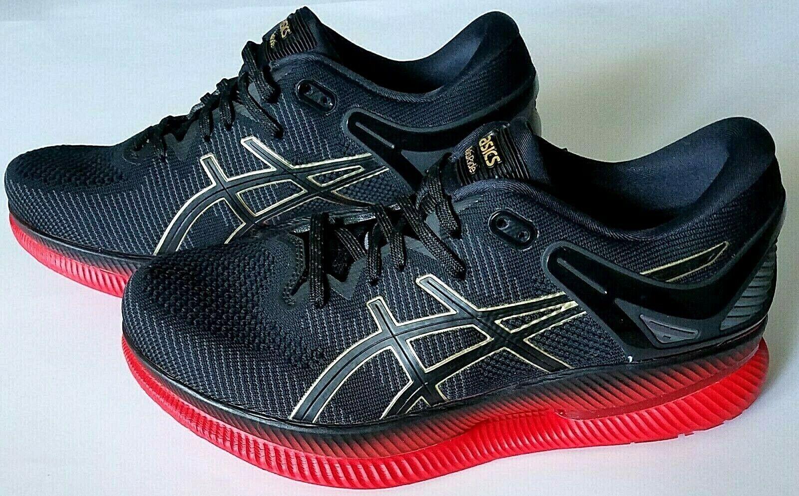 Asics Metaride Para hombres Zapatos para Correr Negro Rojo Tamaño nos 9, 1011A142