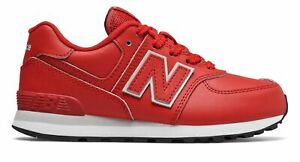 Details about New Balance Kid's 574 Big Kids Male Shoes Red with Grey