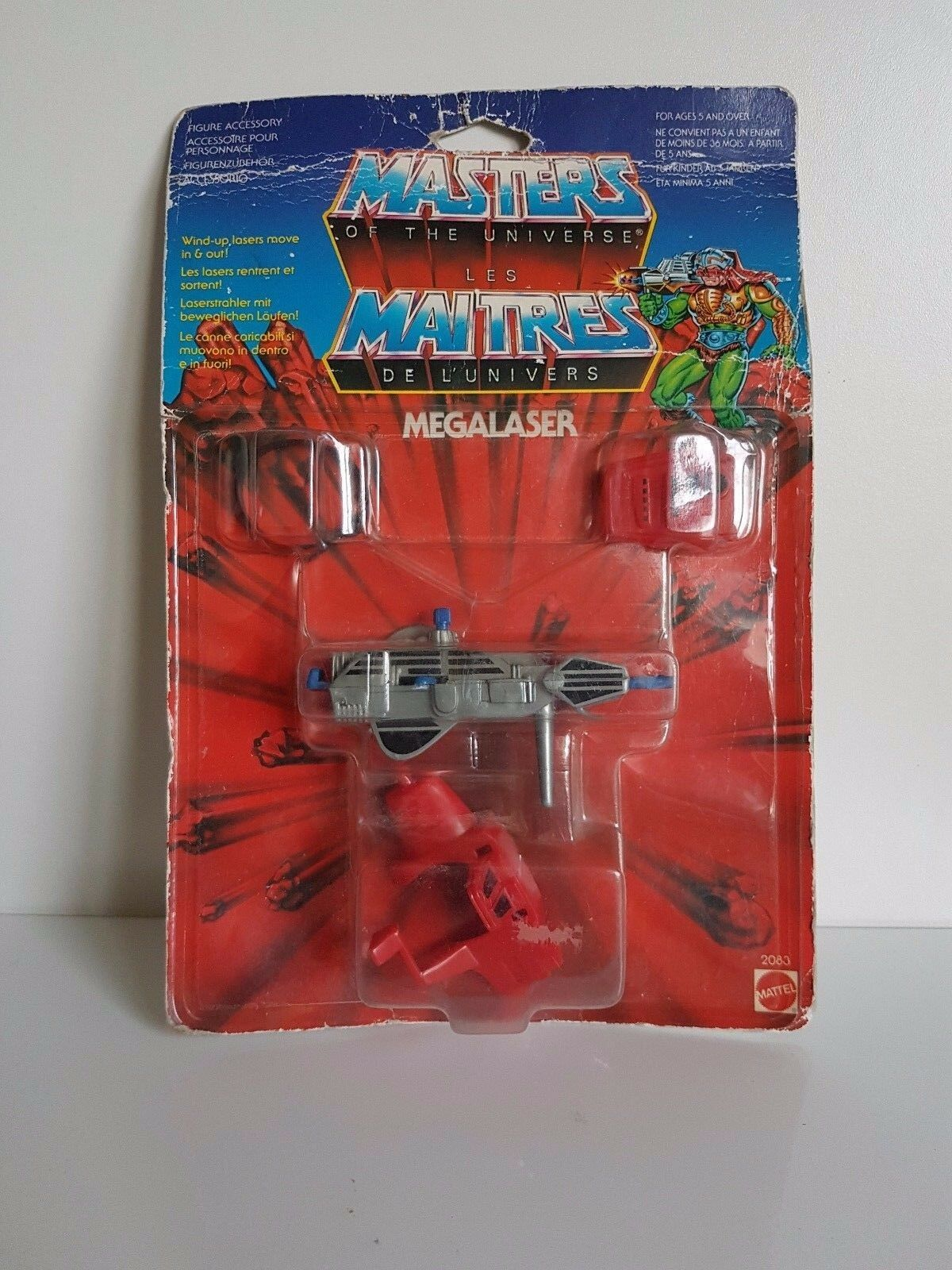 MASTERS OF OF OF THE UNIVERSE MEGALAZER ACCESSORY SET MOC MATTEL HE-MAN 1985 180b2f