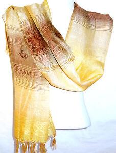 Echarpe-Foulard-Chale-Etole-Femme-Style-Pashmina-blanche-blanc-beige-marron