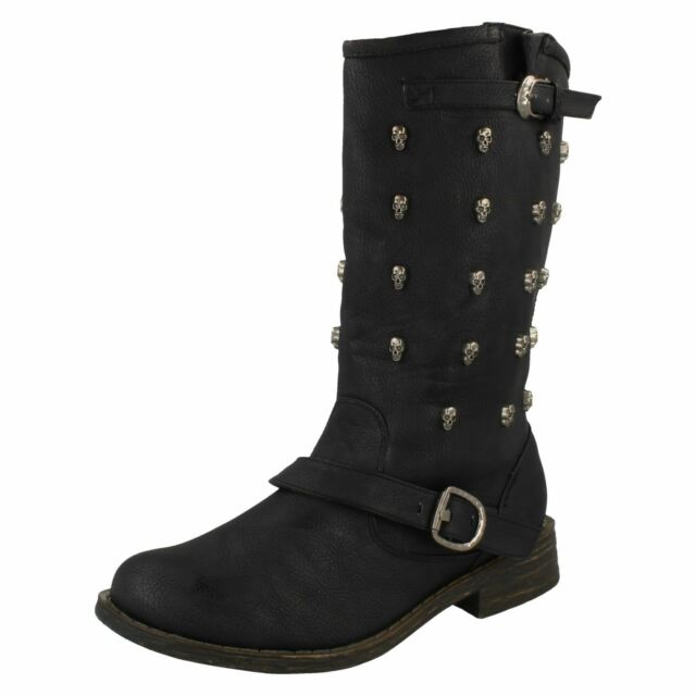 c75a3e46d4cf Ladies Spot on Mid Calf BOOTS The Style - F50037 5 UK Black Standard ...