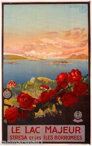 Le Lac Maheur Italy Vintage Art Travel Advertisement Poster Picture Print