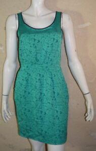 TARA-JARMON-Taille-40-Superbe-robe-doublee-verte-Viscose-SOIE-green-dress