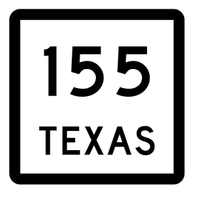 Texas State Highway 155 Sticker Decal R2454 Highway Sign