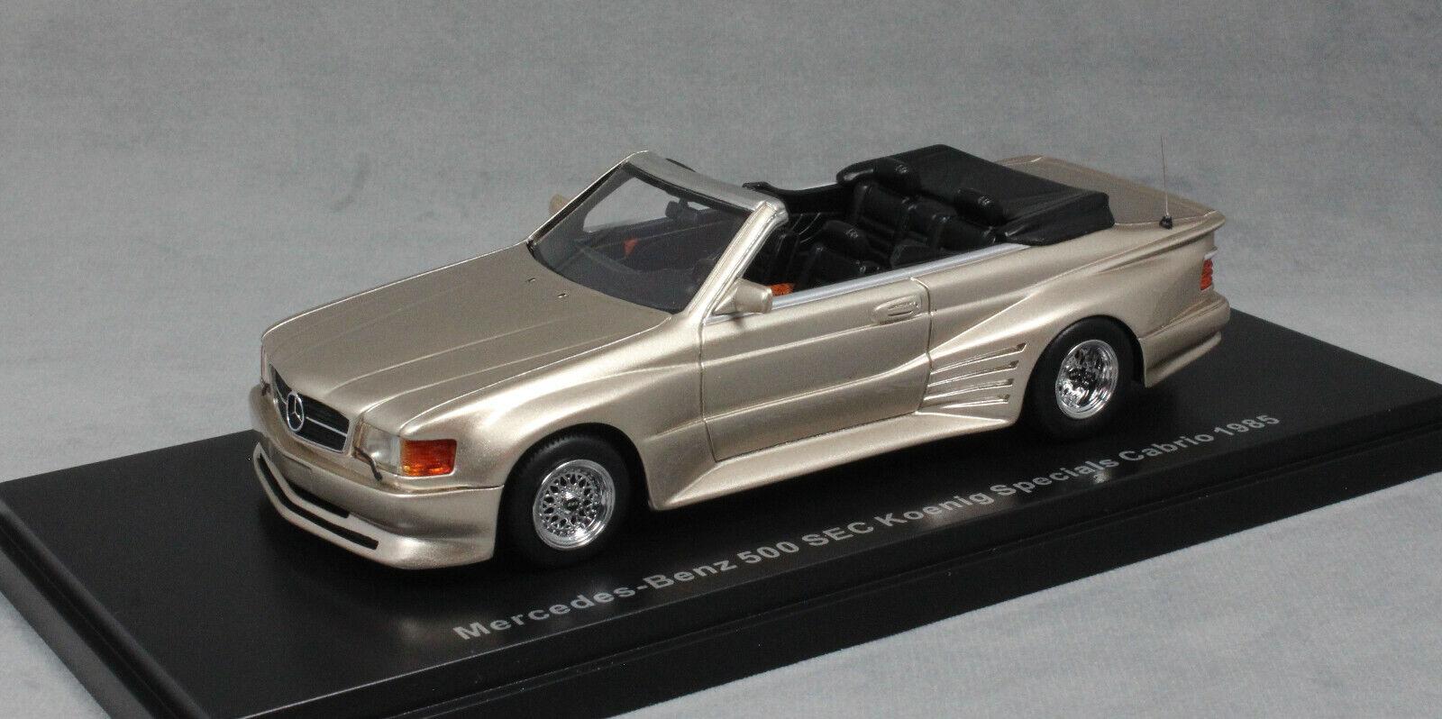 NEO Models Mercedes-Benz 500 sec da KOENIG in oro metallizzato 46570 1/43 NUOVI