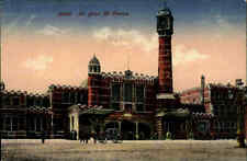 1918 Feldpostkarte Dt. Feldpost AK GAND Gent La Gare Bahnhof St. Pierre WW I.