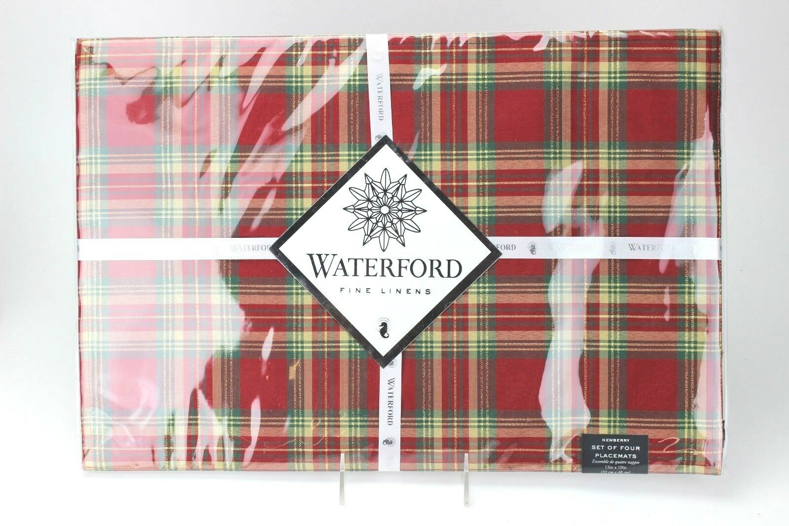 Waterford Newberry Red Plaid Placemats 13 X 19 Set Of 4 For Sale Online Ebay