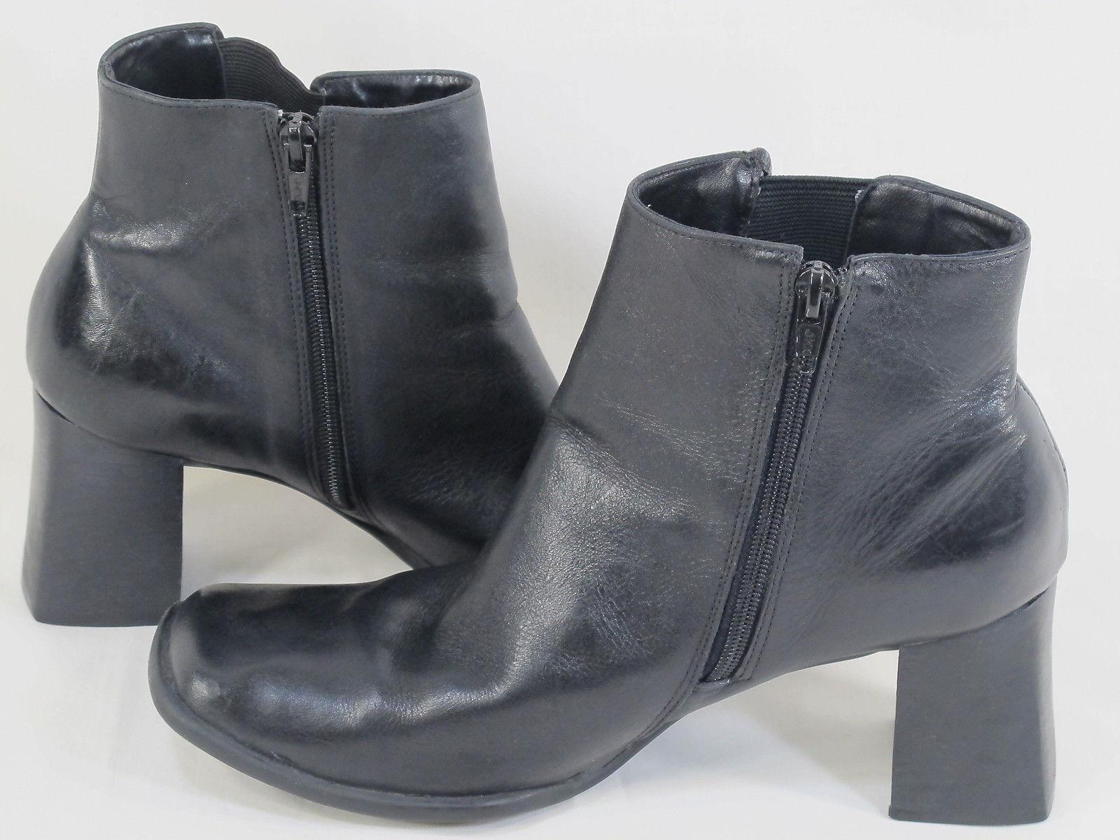 Diana Ferrari Black Leather Brazil Fashion Ankle Boots Size 8.5 M US Excellent Brazil Leather 543641