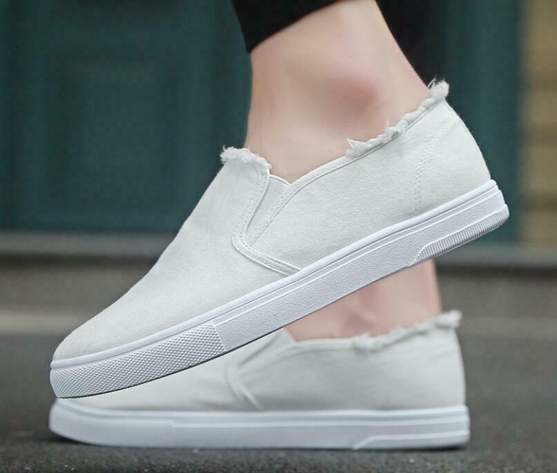 Board shoes Casual Solid color Fashion Men Outdoor Canvas Pull On Street shoes