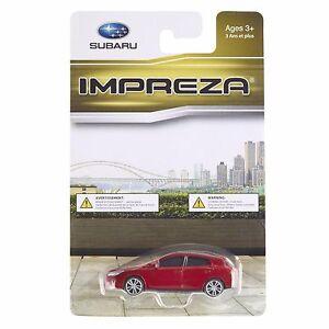 Official-Genuine-Subaru-2015-IMPREZA-Sport-1-64-Die-Cast-Toy-Car-RED-New-OEM