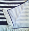 Strandtuch Badetuch Handtuch Maritim mit Fransen