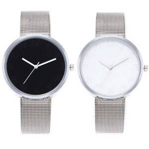 Fashion-Ultra-thin-Dial-Watch-Stainless-Steel-Mesh-Wristwatch-Women-Men-Gift