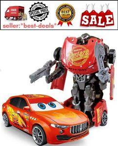 Cars Lightning Mcqueen Transformers Robot Toy Kids Toys Ebay