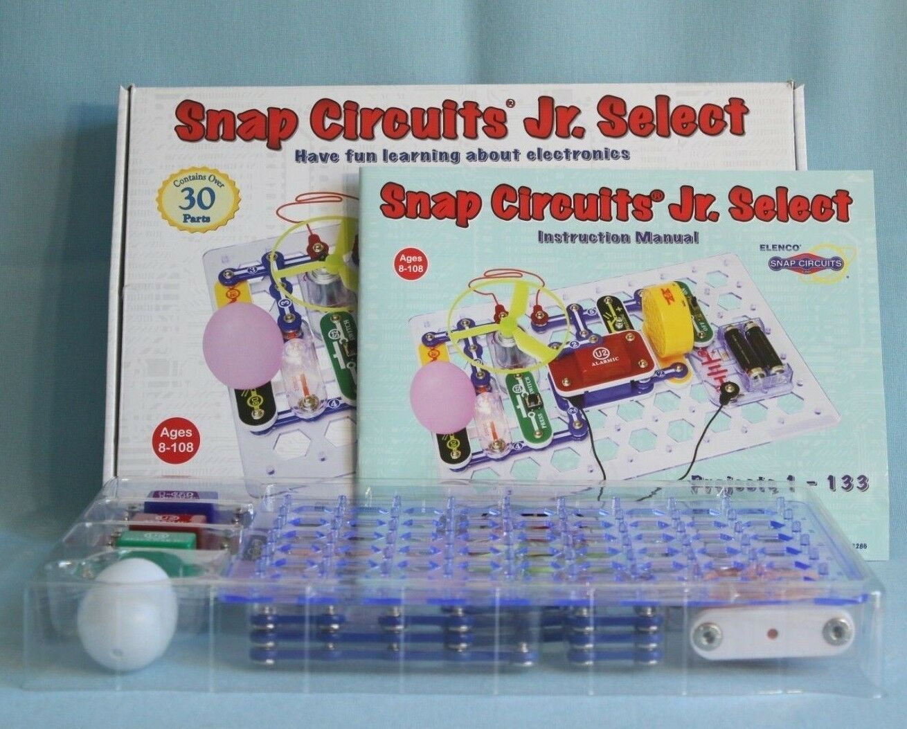 Snap Circuits Jr Select Sc 130 Just Opened Never Ebay Elenco Electronics Electrical Project Kid Educational