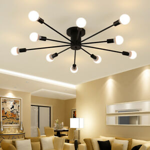 Black Chandelier Lighting Flush Mount Ceiling Lights Kitchen Lamp Pendant Light Ebay