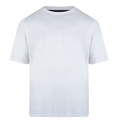 Kam Superior Quality Extra Long Length T-Shirt 2XL-8XL White